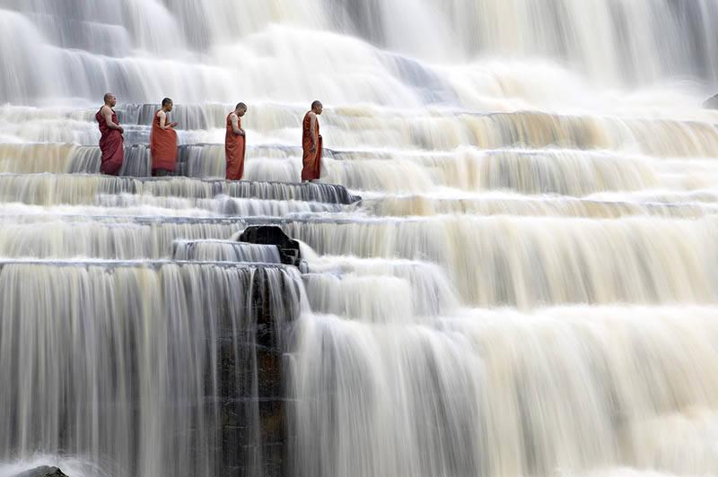 Pongour - a Stunning Terraced Waterfall in Vietnam