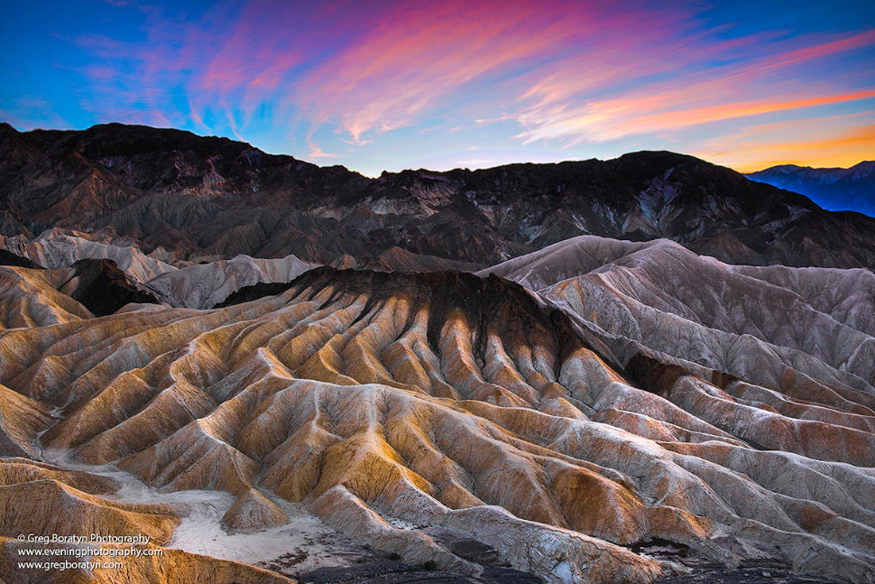 Zabriskie Point – the Iconic Site in the Death Valley, USA