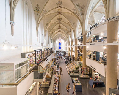 Medieval Cathedral Revived as a Modern Bookstore in the Netherlands