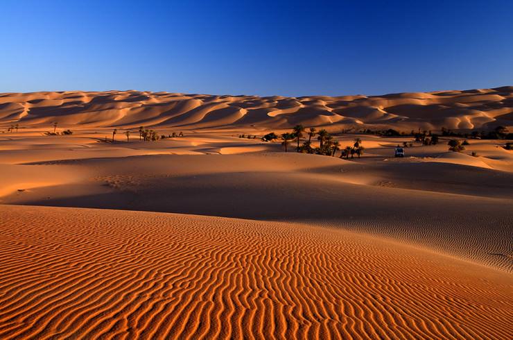 صحرای زیبای لیبی