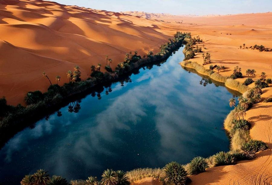 Cinematic Dunes and Lakes in Ubari, Libya