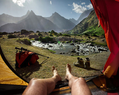 """Morning Views From the Tent"" – a Photography Project by Oleg Grigoryev"