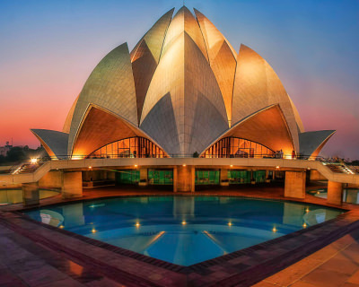 The Lotus Temple – a Blossom of Inspiring Architecture in India