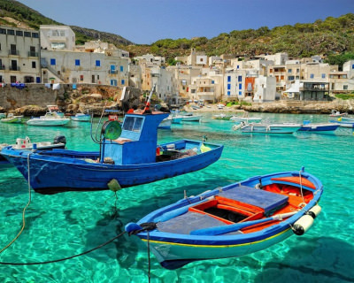 Incredibly Clear Water and Fresh Sea Food in Levanzo, Italy