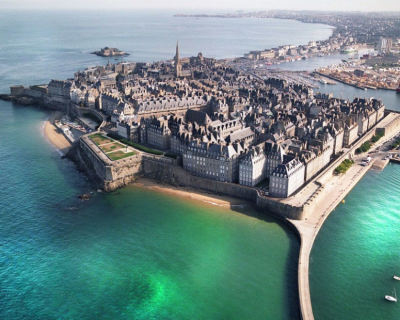 Saint-Malo – a Walled Medieval Port with Numerous Restaurants, France