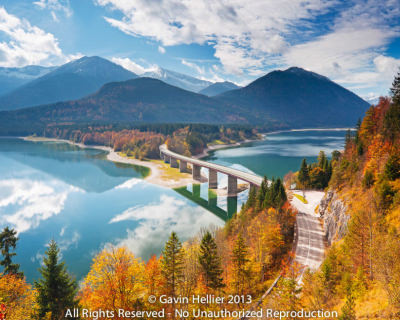 Sylvenstein Dam – a Great Route in the Alpine Landscape, Germany