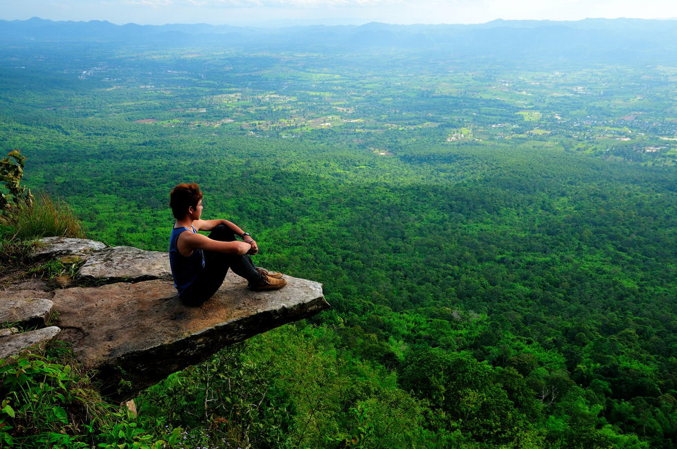 Overlooking the World from Hum Hod Cliff in Thailand