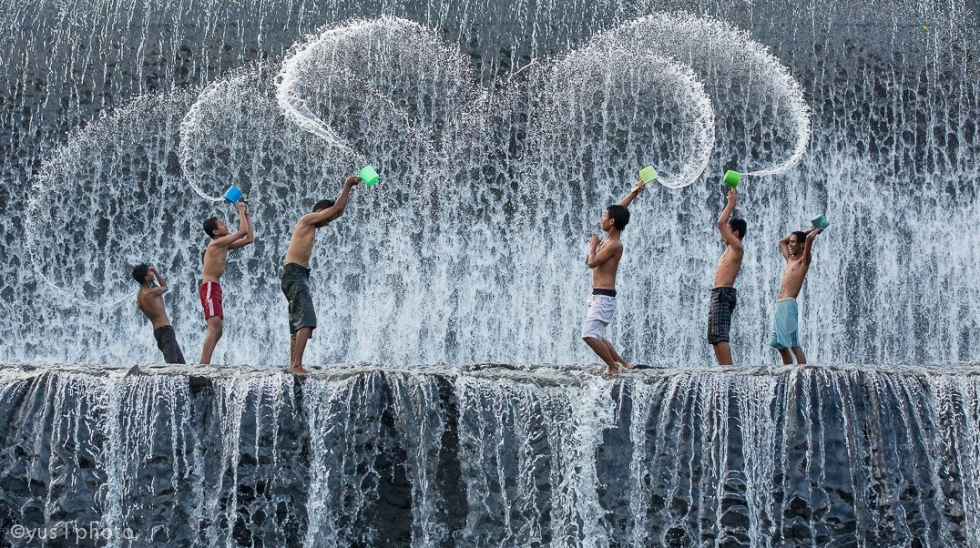 Splish Splash Fun at Tukad Unda Dam, Bali