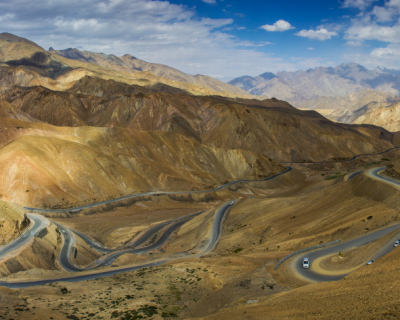 Winding Roads in the Majestic Himalayas