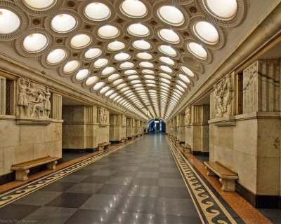 Unbelievable Art Galleries in Moscow Metro in Russia