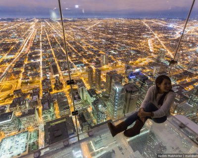 Chicago from Above by Vadim Makhorov