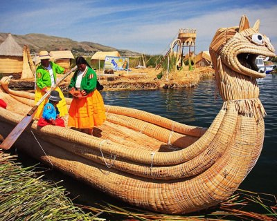 Lake Titicaca and Enigmatic Uros Floating Islands in Peru