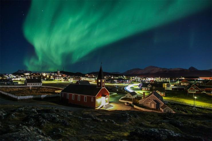 Top Greenland-Aurora