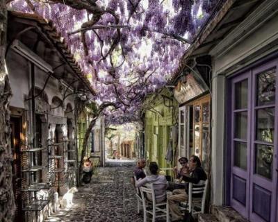 Molyvos – a Tourist Capital of Historic Island of Lesbos, Greece