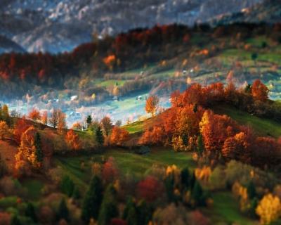 Amazing Landscapes of Maramures in the Carpathians, Romania