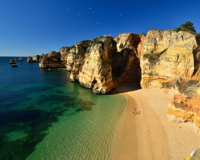 Pristine Beaches and Dramatic Shoreline in Lagos, Portugal