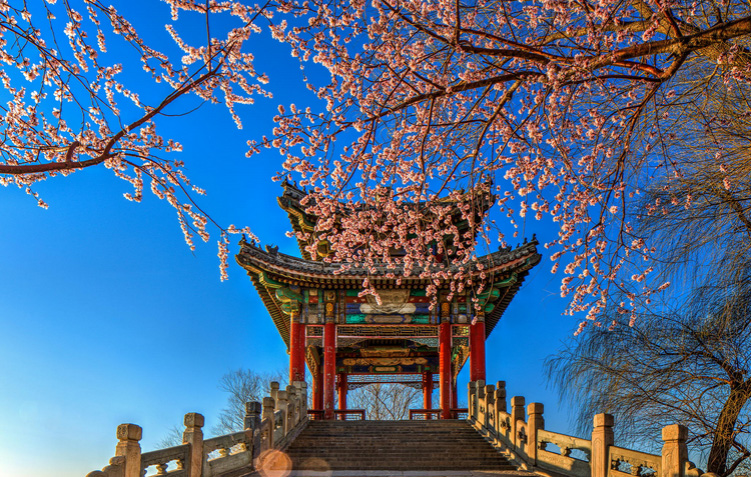 Magnificent Chinese Garden Art in The Summer Palace, Beijing, China