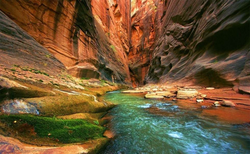 The Narrows – the Most Striking Feature in Zion, USA