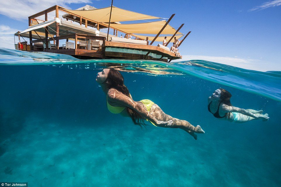 Floating Pizzeria in the Middle of Turquoise Ocean in Fiji