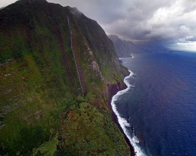 Riding on the Stunning Molokai Coast in Hawaii
