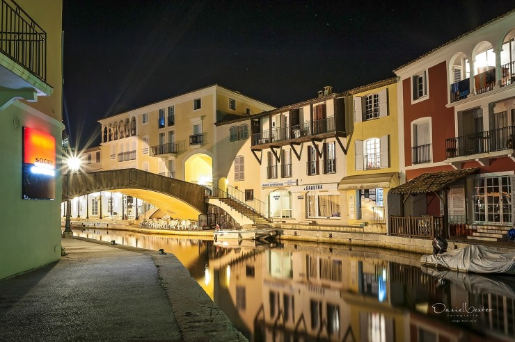 Port Grimaud at Night by Dan Venter
