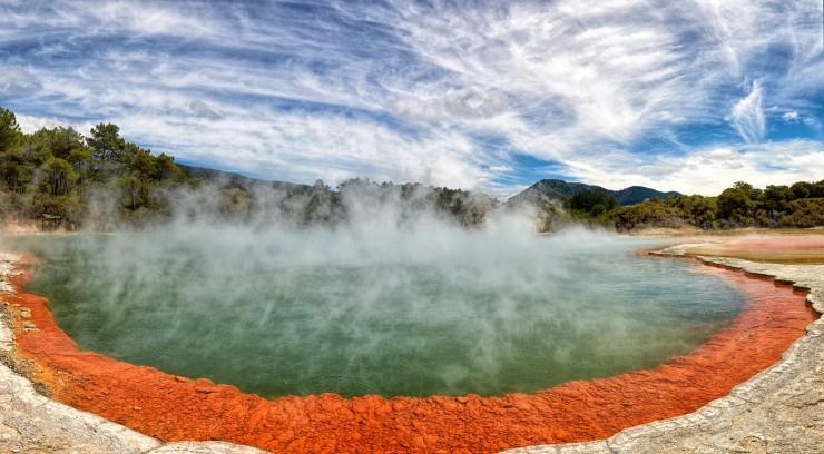 Champaign Pool, New Zealand by Alex Pokrovsky