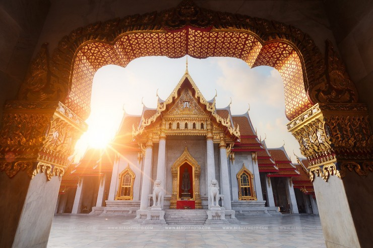 Marble temple, Bangkok by Beboy Photographies