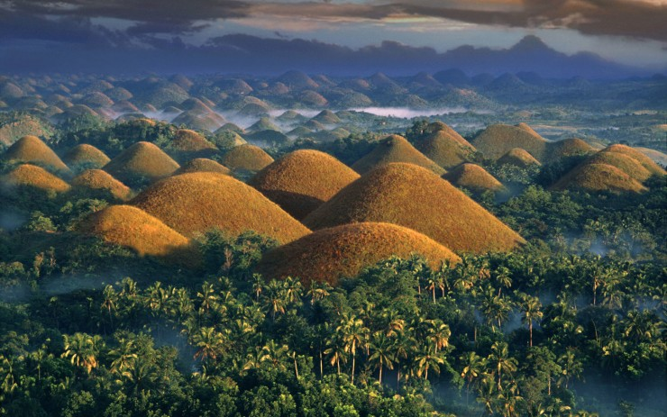 Philippines, Chocolate Hills at sunrise