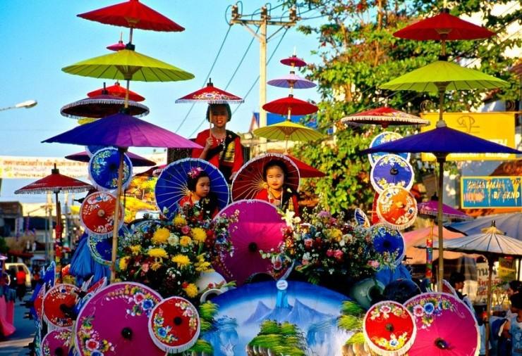 دهکده چترها در تایلند