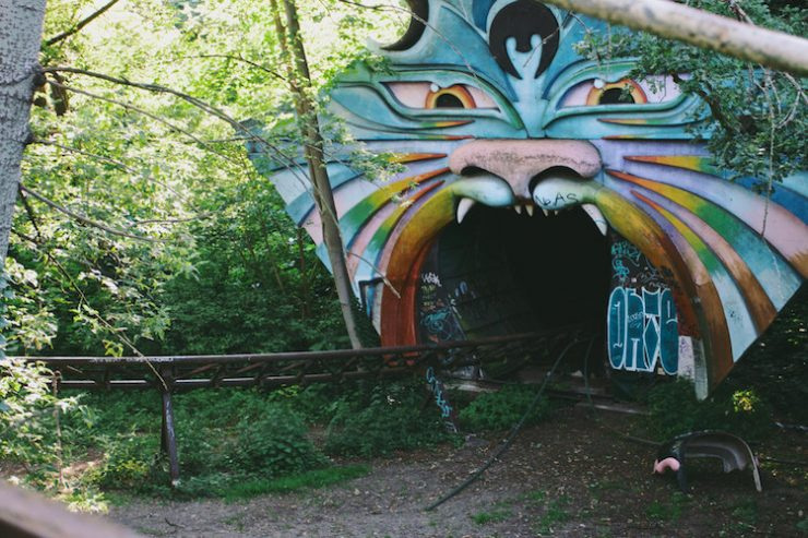 Spreepark, the abandoned amusement park in Berlin.