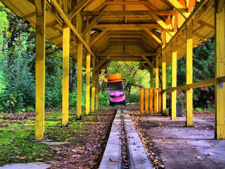 Spreepark, the abandoned amusement park in Berlin.