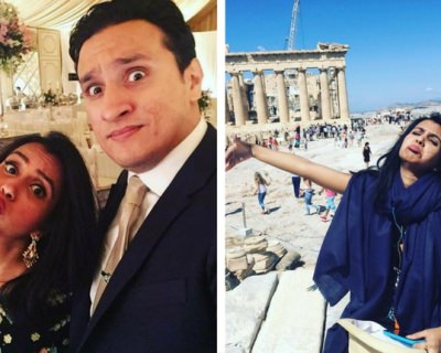 Woman Shares Hilarious Solo Photos from Honeymoon When Her Husband Couldn't Go