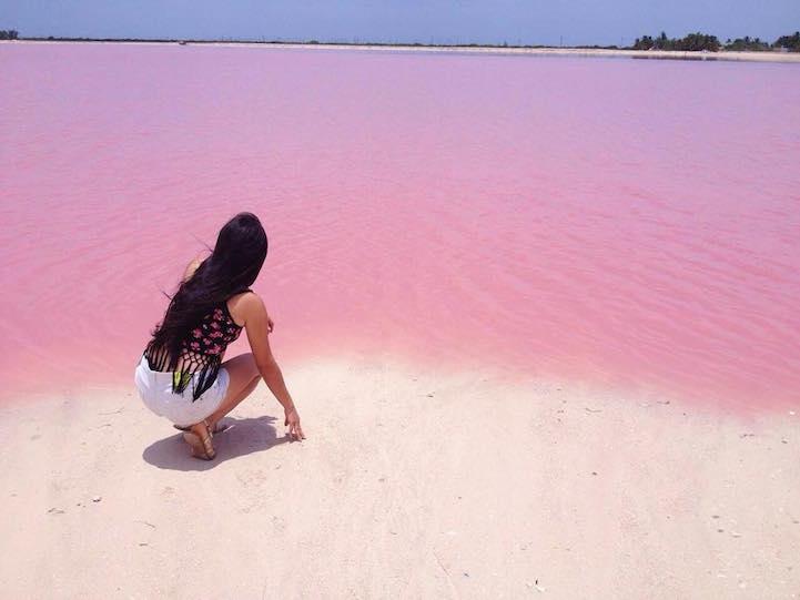 Pink Lagoon, Las Coloradas, Yucatan, Mexico
