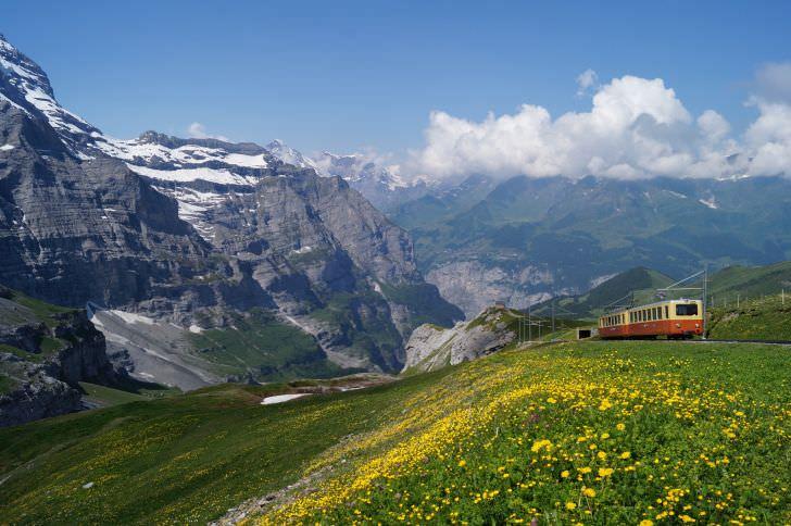 Train to Jungfrau Mountain
