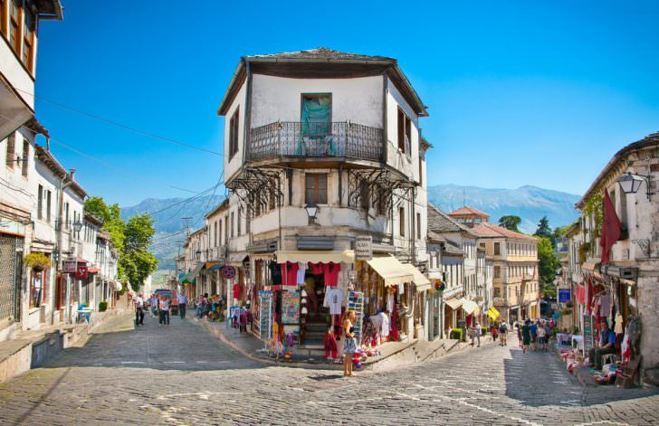 Gjirokasteron street, Albania