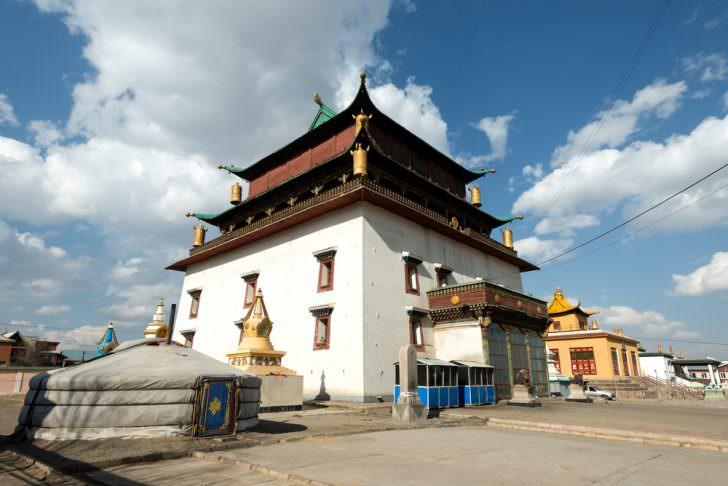 Gandantegchinlen Monastery, in Ulaanbaatar, Mongolia.
