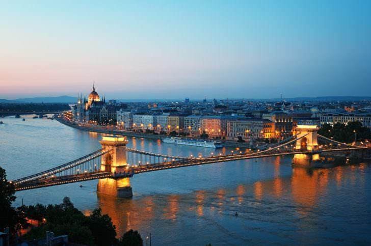 Chain bridge in Hungary