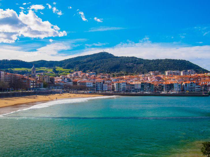 Lekeitio beach, Nicolas island , Biscay, Spain