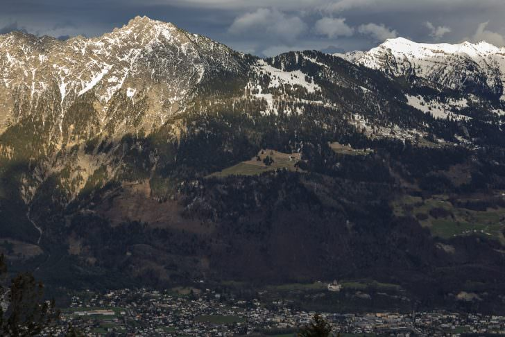 View of the Principality of Liechtenstein and Vaduz
