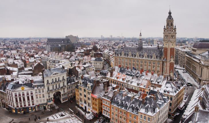 Winter in Lille, France