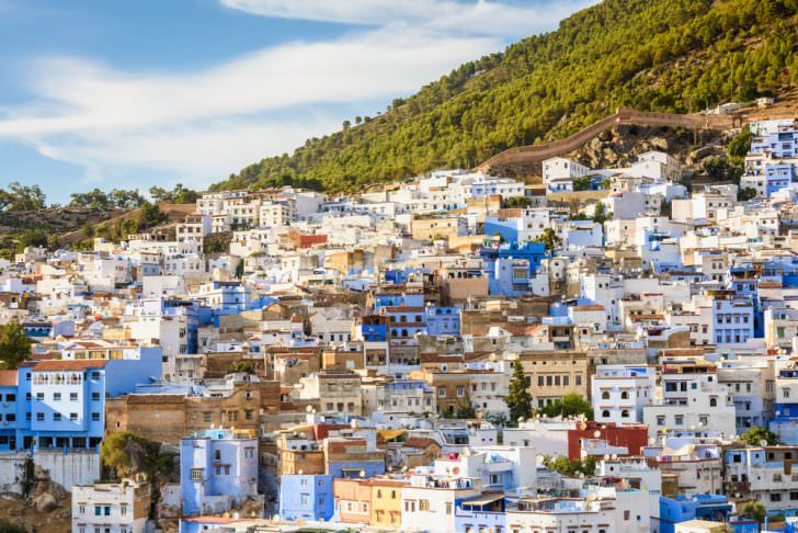 Panorama of Chefchaouen, Morocco