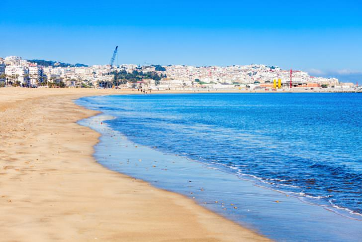 City beach in Tangier, Morocco