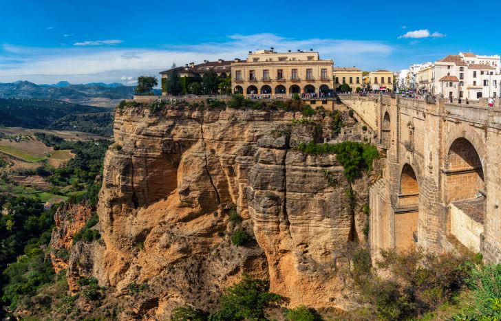 The Puente Nuevo New Bridge over Guadalevin River in Ronda