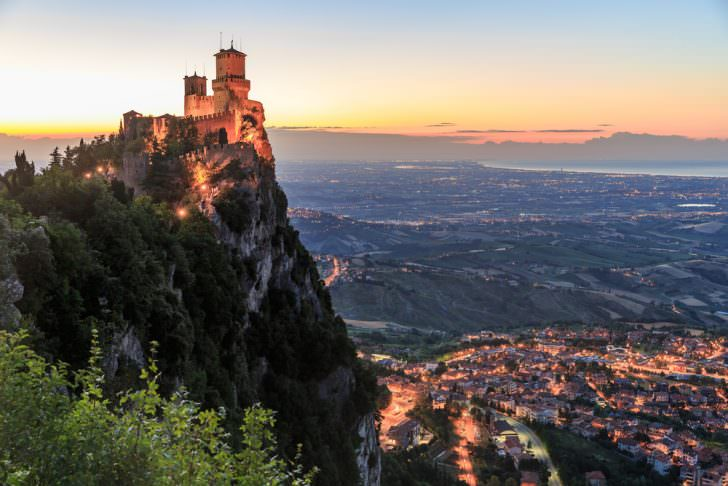 San Marino fortress of Guaita on Mount Titano