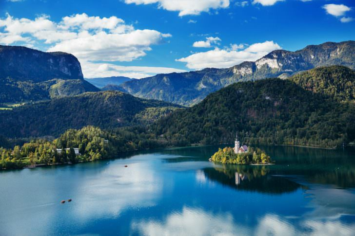Amazing view on Bled lake, Slovenia