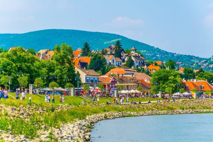 Riverside promenade in Szentendre, Hungary