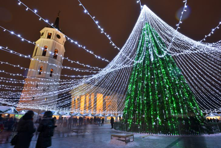 Christmas tree in Vilnius, Lithuania
