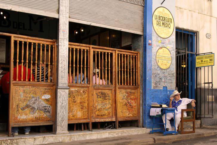 The world famous Bodeguita del Medio restaurant in Old Havana.