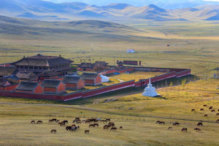 Amarbayasgalant Monastery in northern Mongolia