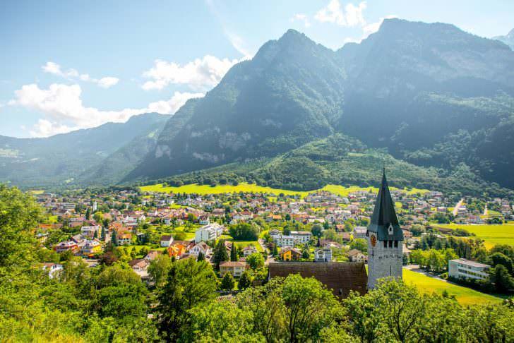 Balzers village, Liechtenstein